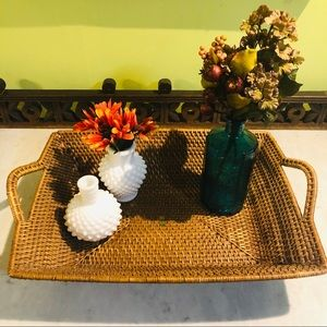 Other - Made in the Philippines Wicker Rattan Boho Basket.